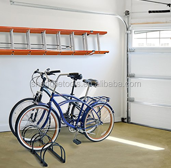 Bike Rack Floor Bicycle Storage Rack 3 Bike Floor Stand