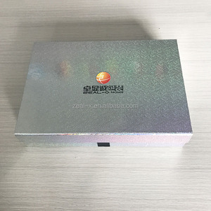 recyclable feature and glossy lamination printing handling high quality shiny magnet folding box for wedding dresses