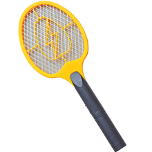 supply middle size AA battery operated electric mosquito swatter bug zapper racket fly killer insct cather