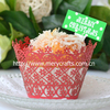 New design fancy wedding party decoration laser cut flowers lace paper cupcake wrappers from Mery Crafts