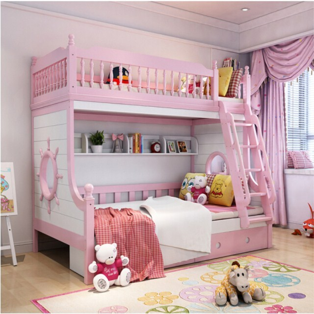 Solid Wood Pink White Princess