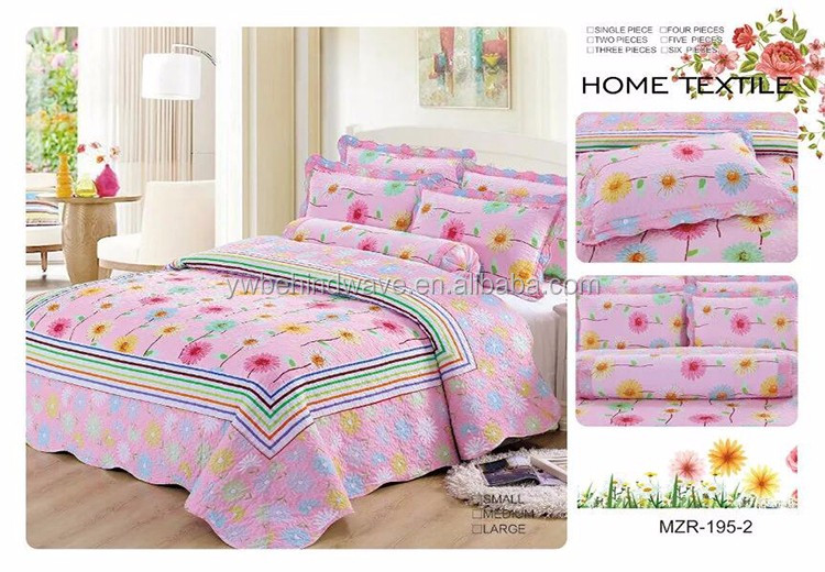 100 Cotton Home Textile Duvet Cover Ribbon Embroidery Bedsheet
