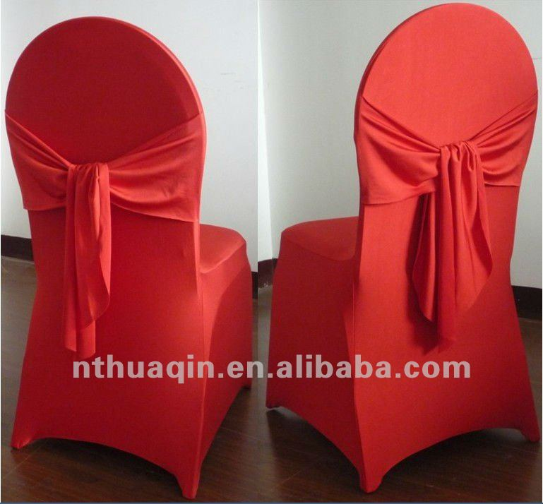 lycra chair cover with ribbon for banquet spandex chair cover with ribbon for weddings white spandex chair cover with sash