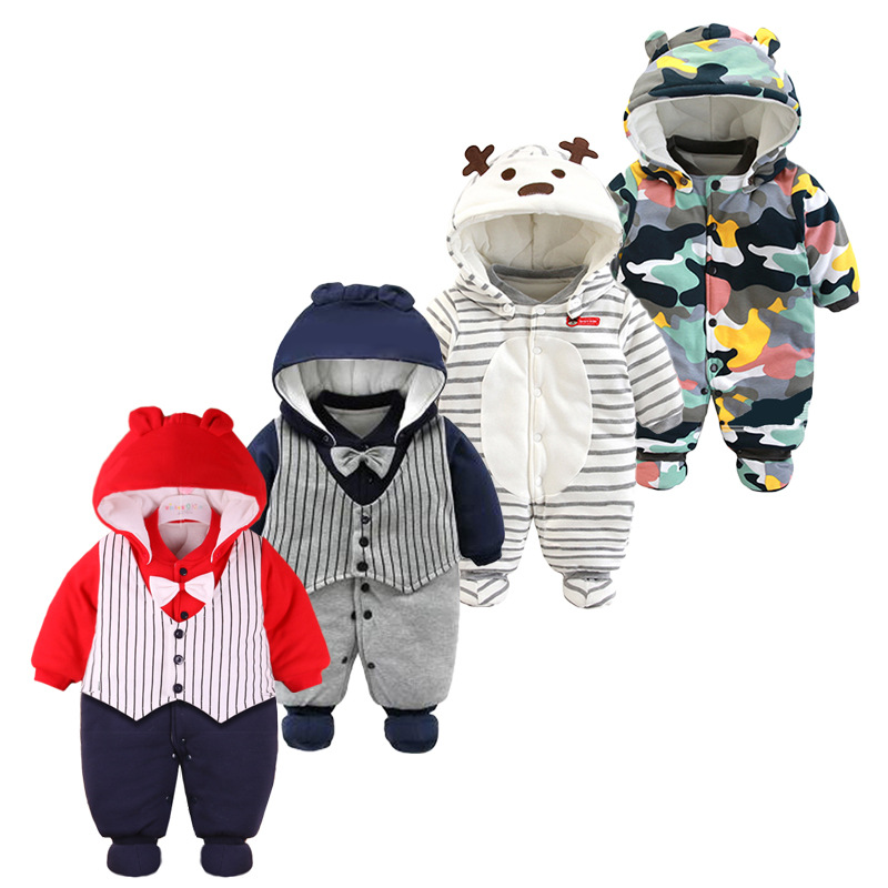 Customize Winter Unisex Clothes Newborn Up Baby Romper With Long Sleeve