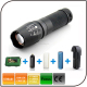 CE ROHS CREE Flashlight 3.7V 18650 or AAA Battery Torch Zoom Led Rechargeable Flashlight
