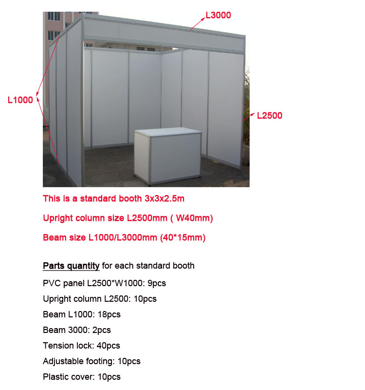 Exhibition Booth Standard Size : Standard aluminum exhibition display shell scheme