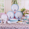 Haonai new cute design bone china dinnerware set bone china bowl & plate kitchenware tableware