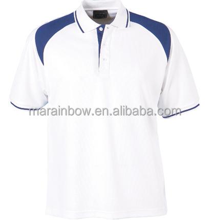 Custom Made Fashion Cotton Spandex Slim Fitted White Mens Golf Polo