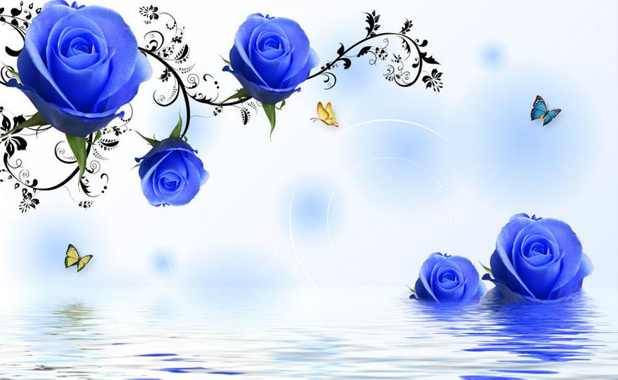 simple blue flower wallpapers - photo #17