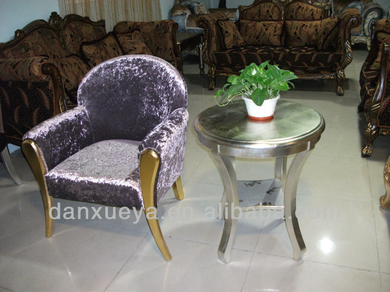 Pink hotel furniture chair ,wooden chair and table