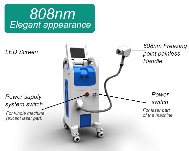 Best selling 808nm diode laser machine permanent hair removal with CE