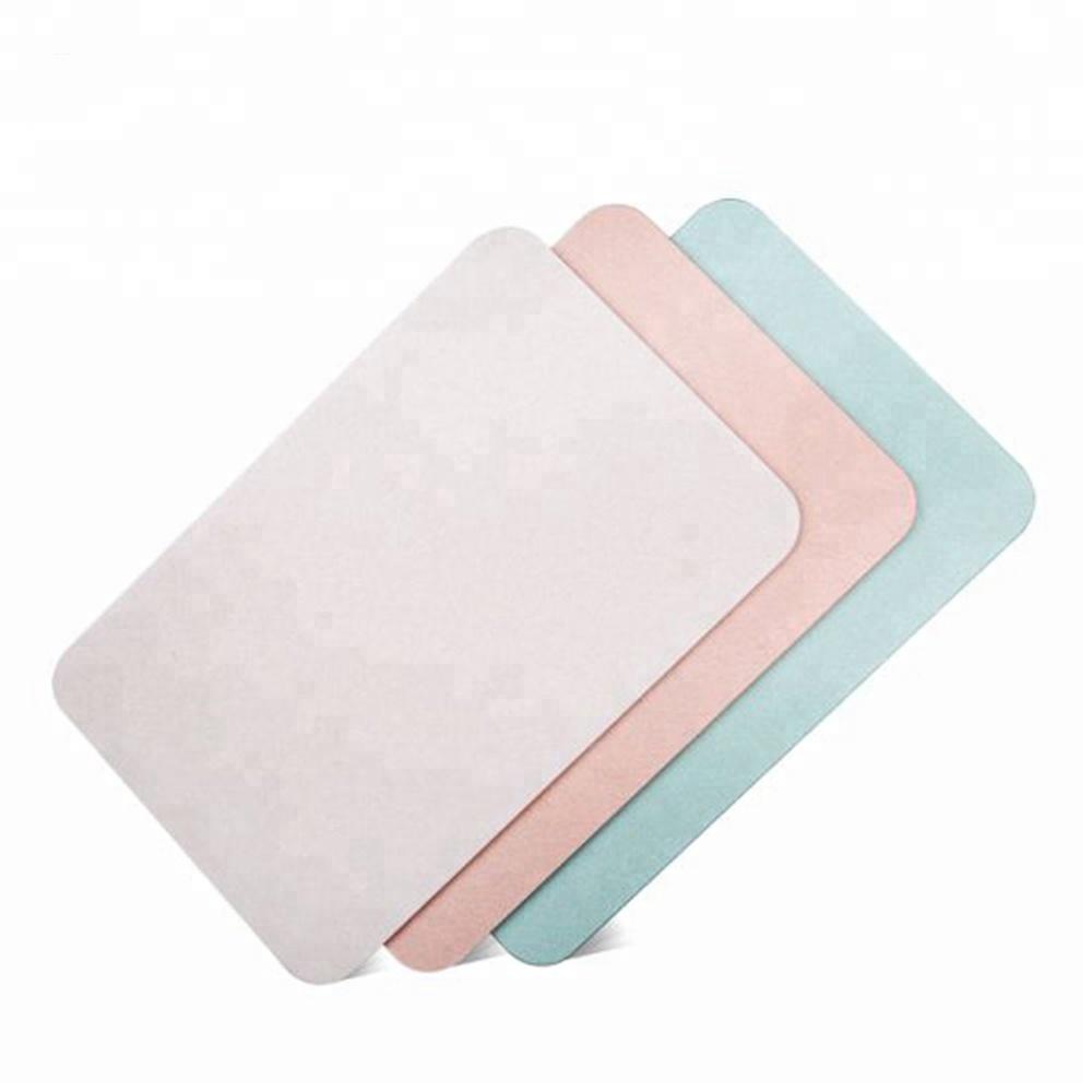 2018 antibacterial anti slip bathroom mat waterproof floor mat diatomite bath mat