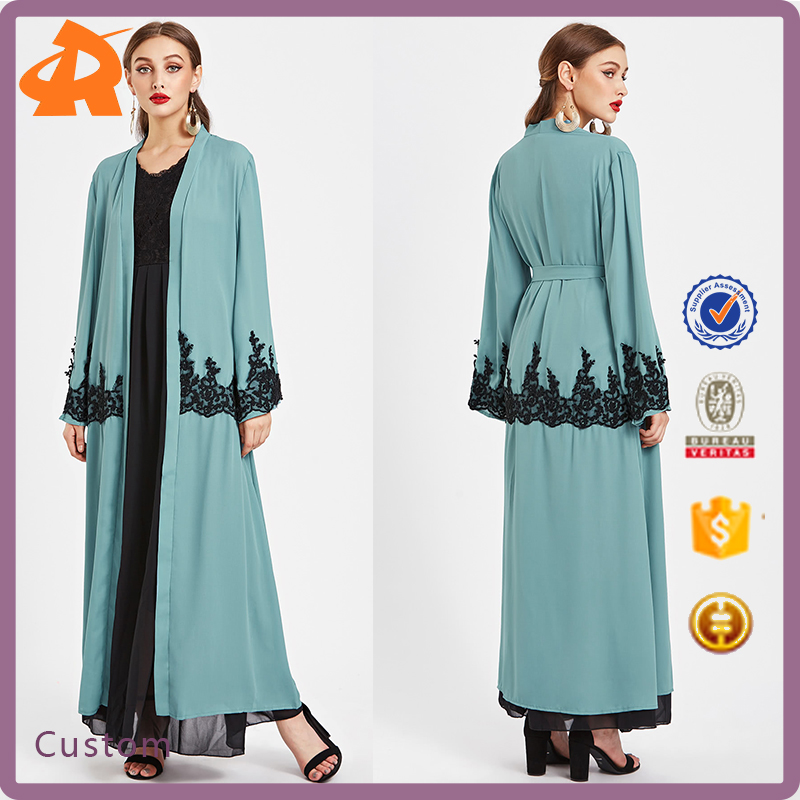 OEM China manufacturer turkish muslim long dress,black lace contrasting maxi dress muslim,abaya models dubai muslim
