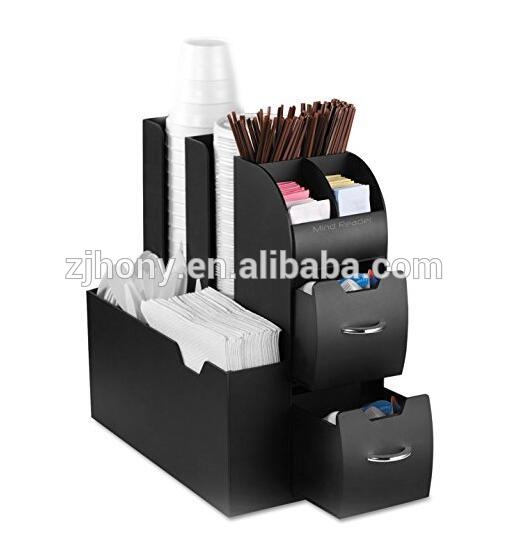Clean and modern design Coffee Condiment and Accessories Caddy Organizer perfect for home or office