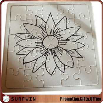 Puzzle Di Fiori Da Colorare Con I Pastelli Buy Puzzle