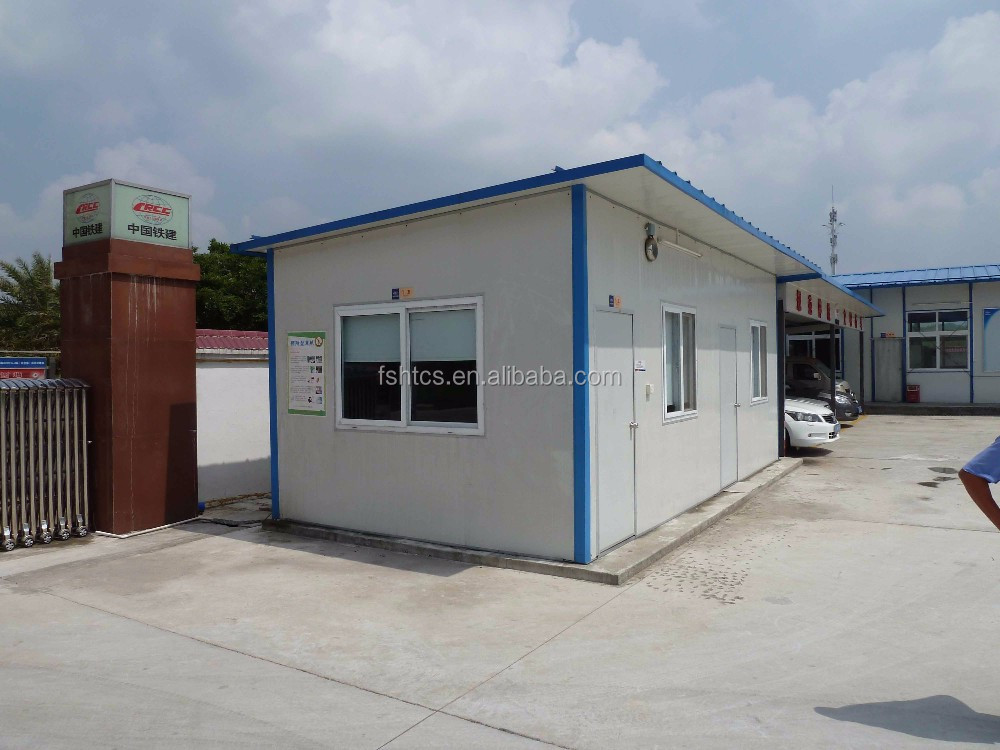 T Type Low Cost Boarding Flat Roof Small Bungalow House