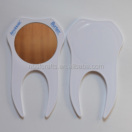 Doctor gift Tooth shaped hand mirror,medical promotional items OEM promotional lovely gift items