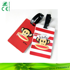 Wholesale luggage tag with low price promotional gift logo silicone bag tag travel Business card