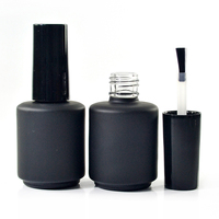 5ml 7ml 8ml 9ml 10ml 11ml 13ml 14ml 15ml 17ml amber clear black empty glass uv gel nail polish bottle with brush