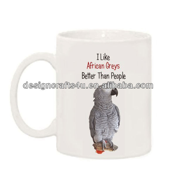 Wholesale ceramic parrot mug coffee cup