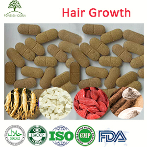 Natural Make Your Hair Grow Faster Chinese Yam Poria Cocos Pills