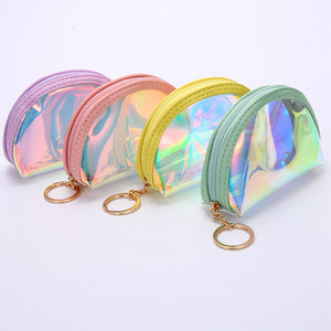 Womens Holographic Waterproof Wallet Clutch Bag Wallet Small Purse
