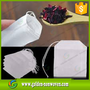 Biodegradable empty non woven tea bag spunbond pp material,disposable polypropylene non woven fabric tea bag,non woven bag