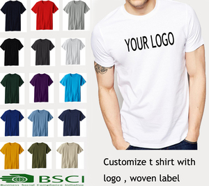High quality 100% cotton white t-shirt , blank t-shirt printing design ,t-shirt men in clothing manufacture