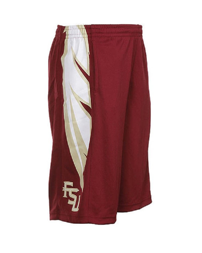 93748bf6b4 Get Quotations · Nike Florida State Seminoles FSU Youth Athletic Training  Basketball Shorts Garnet Gold Size 7