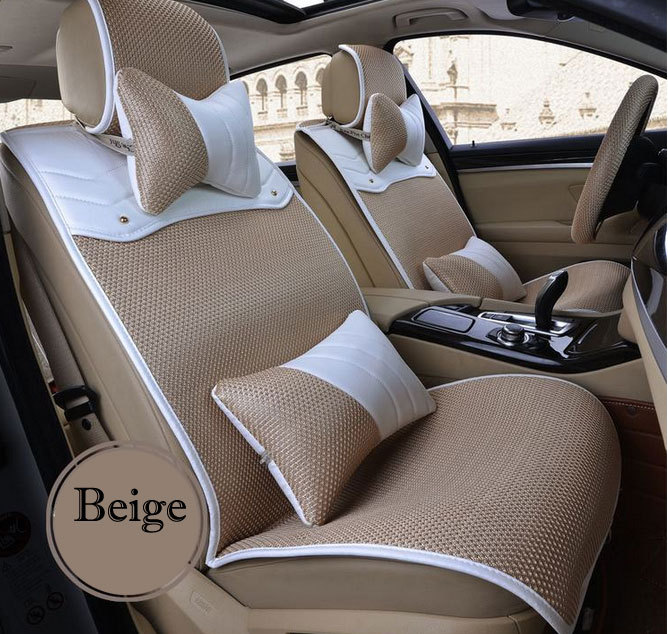Winter 3d ice silk car seat cushion auto seats covers set - Car seat covers for tan interior ...
