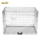 Large Iron Metal Pet Cage Wire dog cage Two Doors with metal Tray