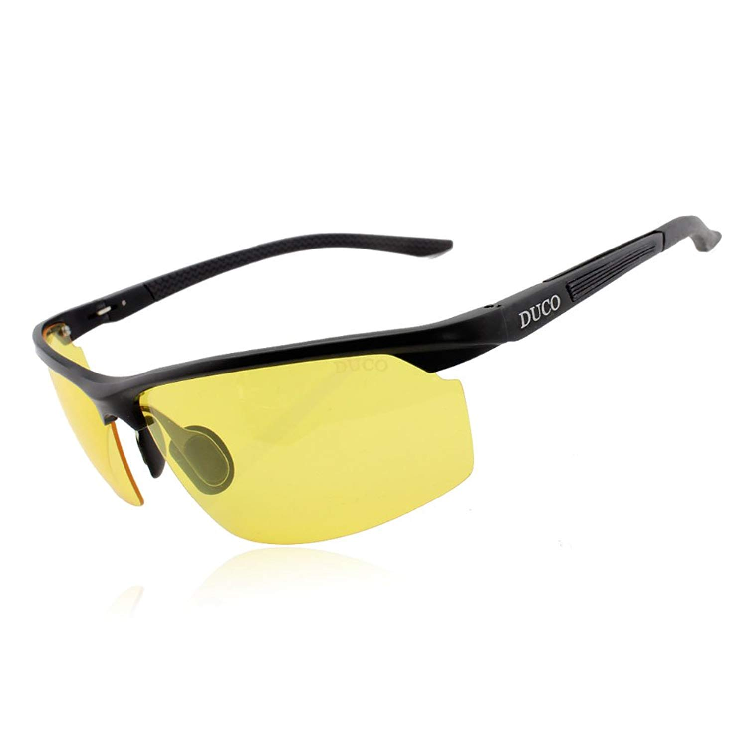 a105743d64 Get Quotations · Duco Night vision Driving Glasses For Headlight Anti-glare  Polarized Eyewear 8529 (Black frame
