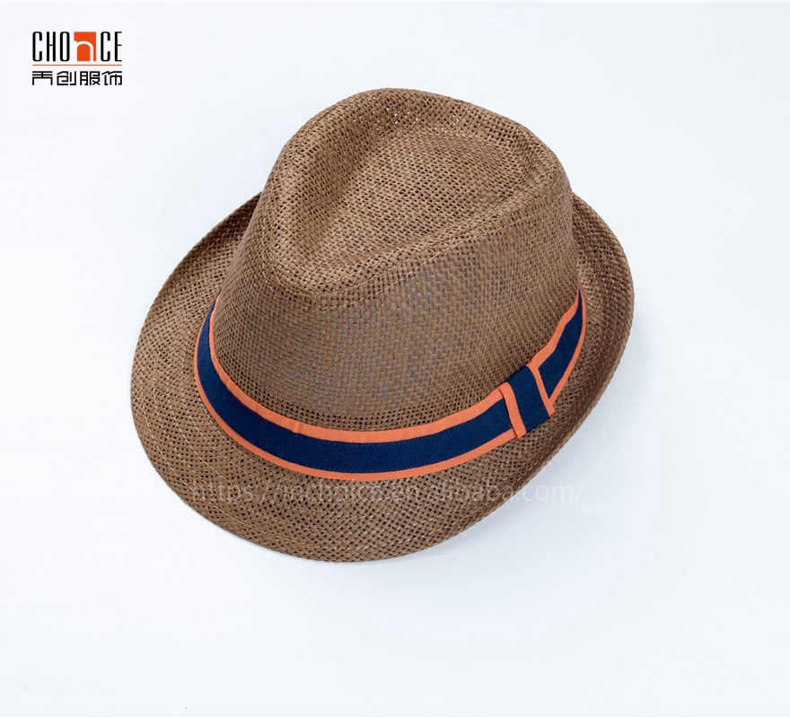 d5605741eb4 Men Trilby Paper Straw Brown Cowboy Hats Whole Sale Fedora Hats ...