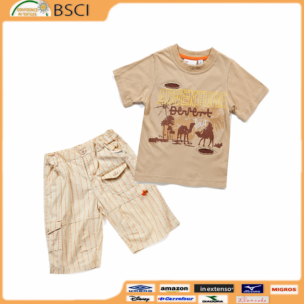 Europe Market Hot Sale Children's Clothing Set Pass Fama BSCI OEKO Certification