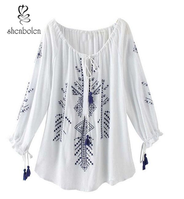 Promoción Blusas Bordadas A Mano, Compras online de Blusas Bordadas ...