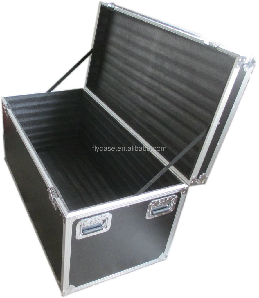 aluminum profile heavy-duty flight case with telescope  handle and butterfly  lock 35MM Aluminum profile and 10MM plywood