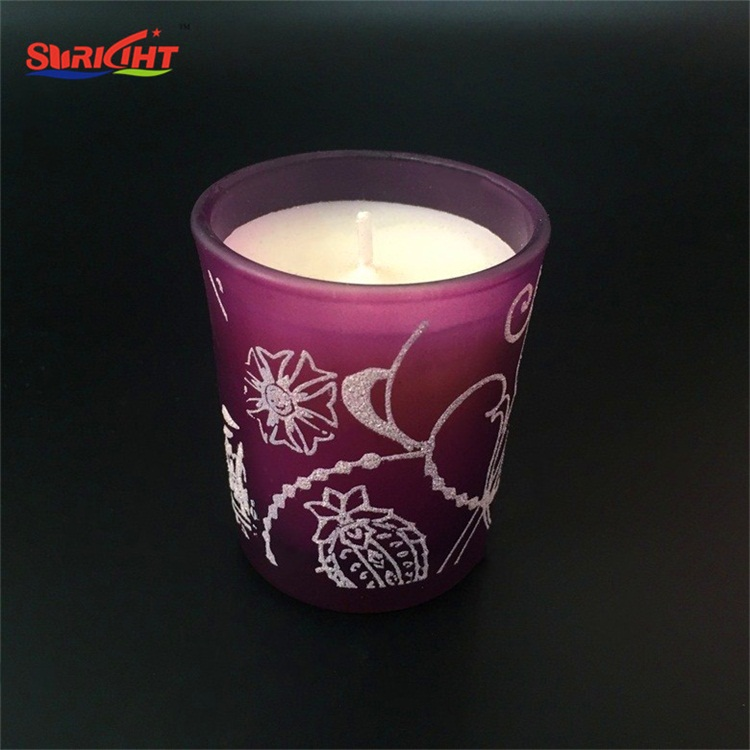 Pink Decoration Paraffin Wax Jar Candle