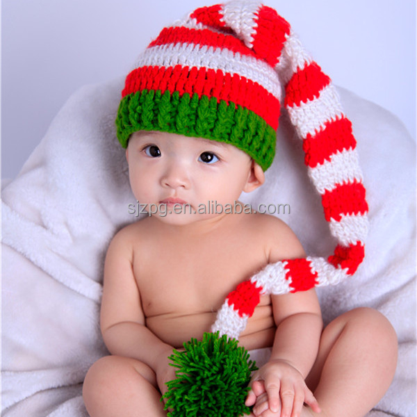 Hand Crochet Knitted Christmas Hat 2214b5216e4