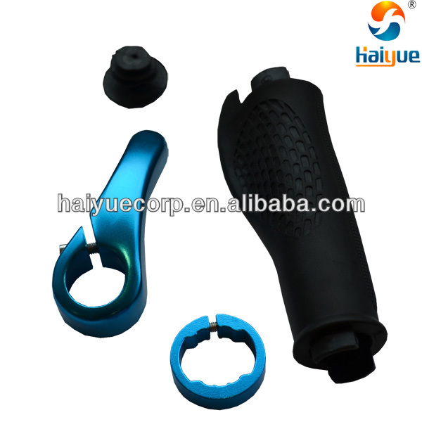 TPR Rubber Aluminum alloy bike bar end