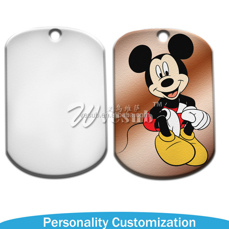 2015 New arrive Photo Printable Sublimation Blank Coated screen imprint dog tag