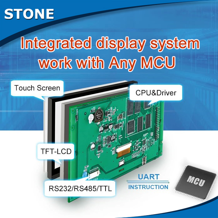 Programmable engineer easy to use 10.1 TFT LCD panel with touch screen and powerful Command Set