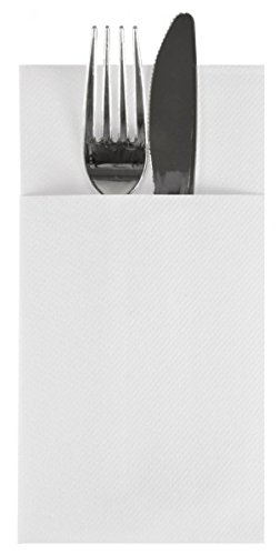 """Linen-feel Cloth-like Paper Cutlery Pocket Napkin Sleeve 