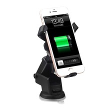 HAISSKY fast Qi wireless charger car mount for Samsung, for Iphone,for HTC