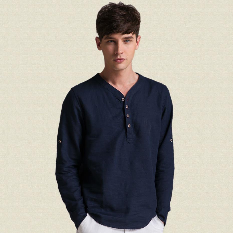 Collarless Dress Shirt Mens T Shirts Design Concept