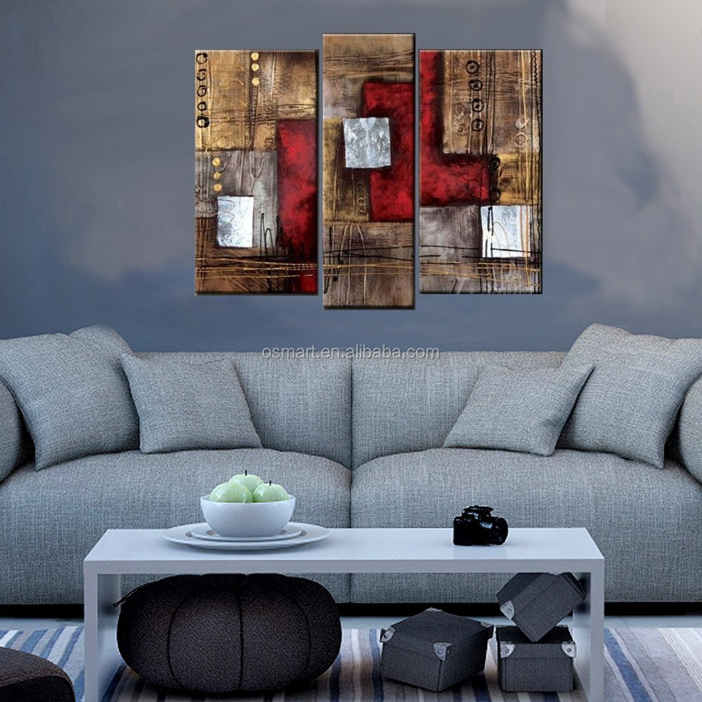 Gruppo Di Dipinti Su Tela Dipinti A Olio Dipinto A Mano Moderni Quadri Astratti Home Decor
