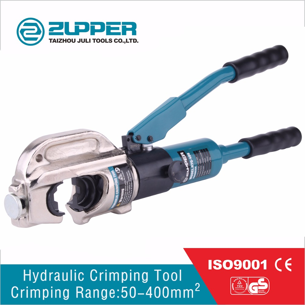 ZUPPER safety hydraulic hand hold cable crimping tool for terminal