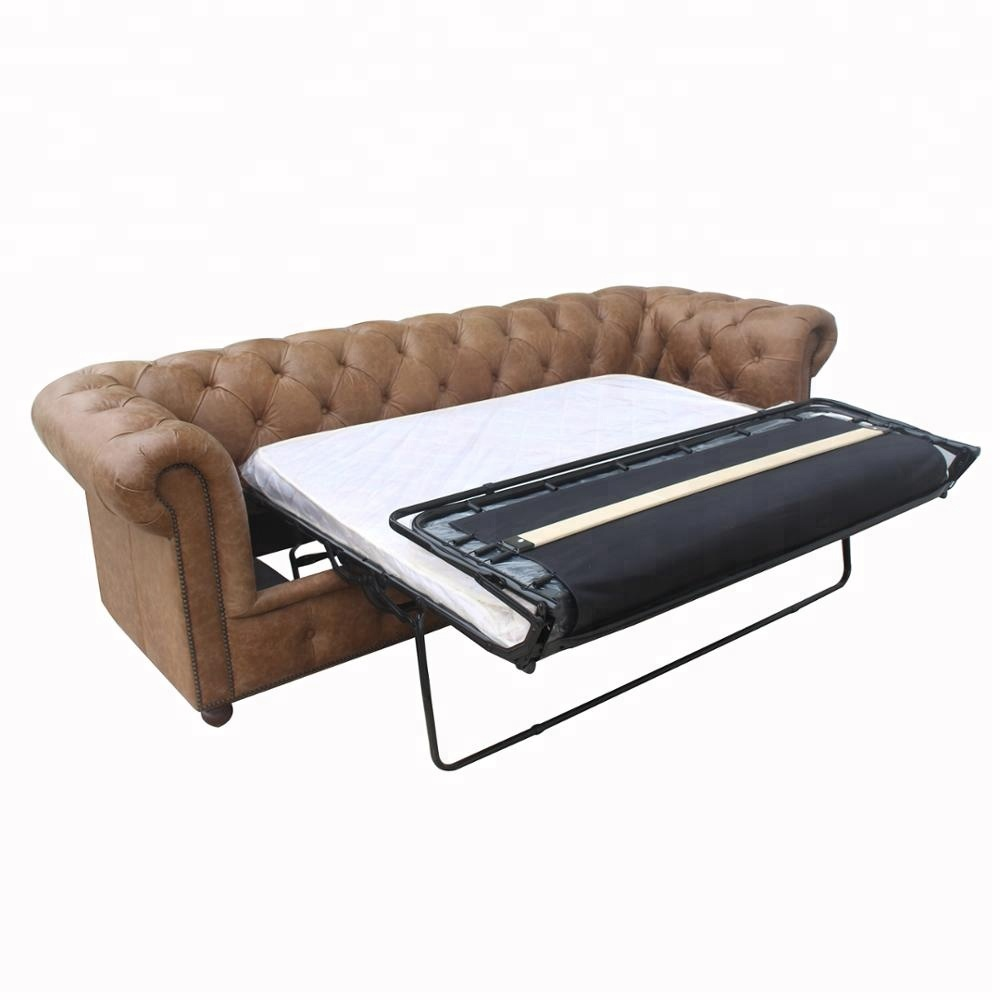 High Quality Vintage Leather Chesterfield Style Sofa Bed <strong>Furniture</strong>