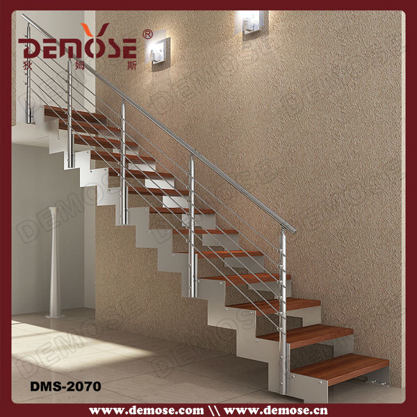 Straight Double Steel Plates Stairs/staircase Design