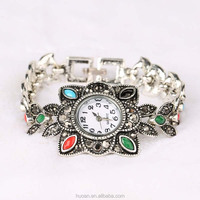 Wholesale vintage silver jewelry fashion gift watches bangle cheap watch