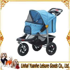 "W/12"" Terrain EVA Tires 3 Wheels Deluxe Jogging Pet Dog Stroller"